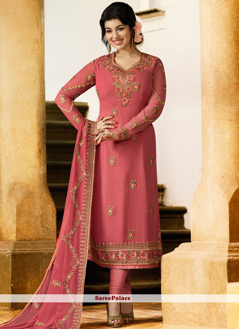 Ayesha Takia Pink Churidar Designer Suit