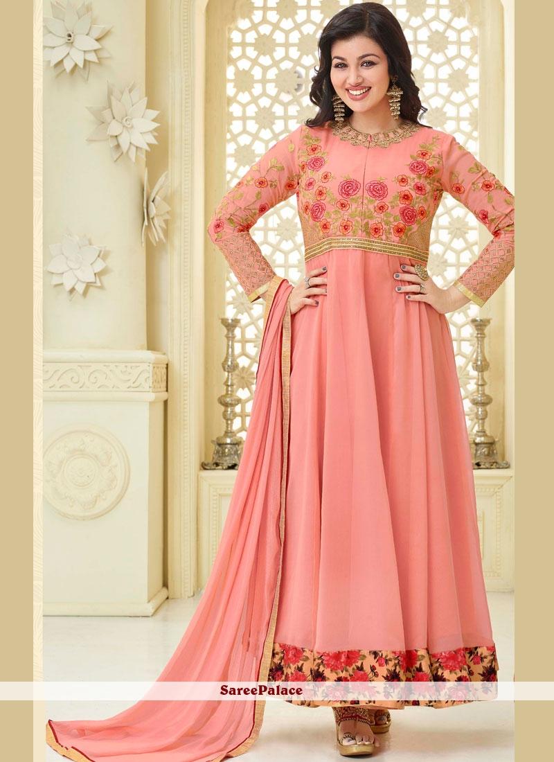 dfdccfe0e4 Buy Ayesha Takia Pink Faux Georgette Anarkali Suit Online