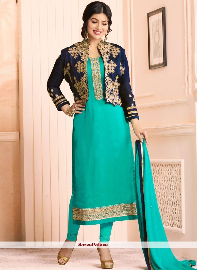 Ayesha Takia Sea Green Jacket Style Suit