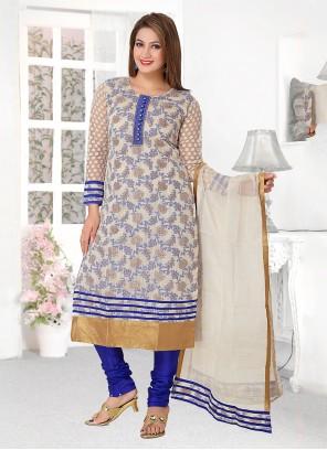 Banarasi Silk Blue Designer Salwar Suit