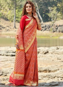 Banarasi Silk Classic Designer Saree in Red