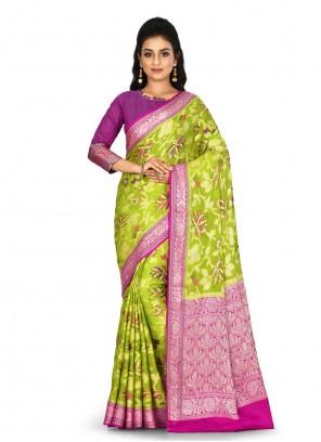 Banarasi Silk Green Classic Saree