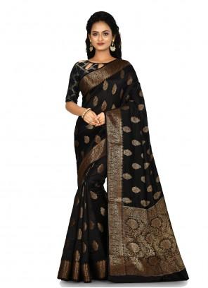 Banarasi Silk Black Classic Saree