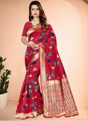 Banarasi Silk Classic Saree in Pink