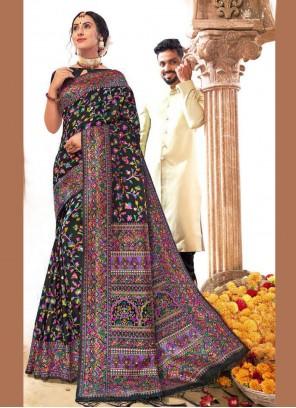 Banarasi Silk Designer Saree in Black