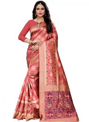 Banarasi Silk Designer Saree in Peach