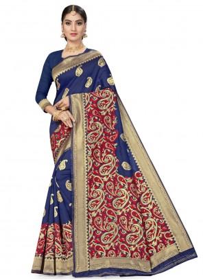 Banarasi Silk Designer Traditional Saree in Blue