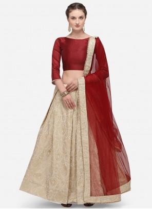 Banarasi Silk Fancy Lehenga Choli in Beige