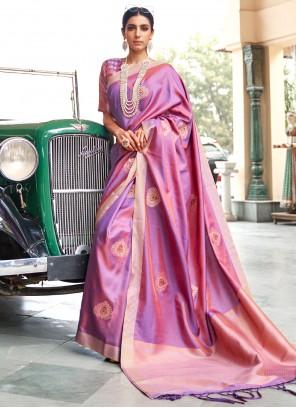 Banarasi Silk Fancy Traditional Saree in Purple