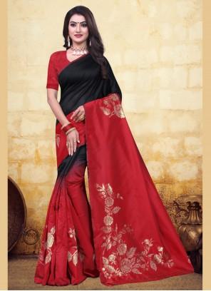 Banarasi Silk Festival Half N Half Designer Saree