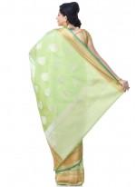 Banarasi Silk Green Classic Designer Saree