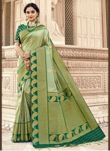 Banarasi Silk Green Designer Saree