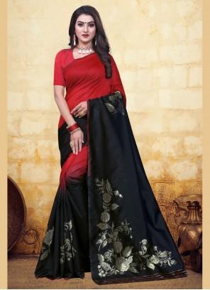 Banarasi Silk Half N Half Trendy Saree