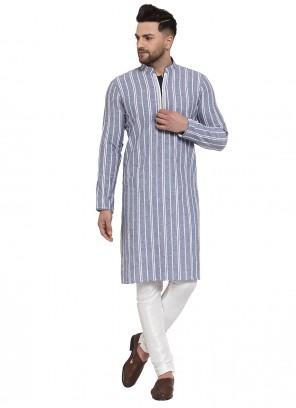 Banarasi Silk Kurta Pyjama in Grey