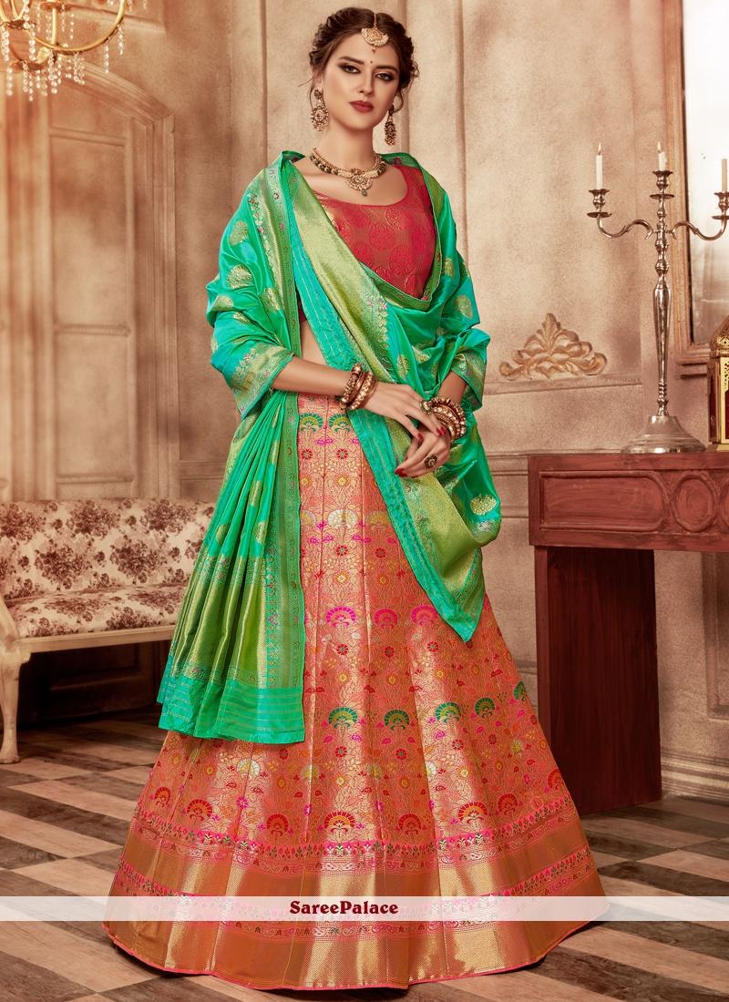 0c9617b1c4 Buy Banarasi Silk Lehenga Choli Online
