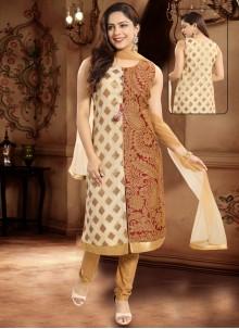Banarasi Silk Maroon Salwar Suit