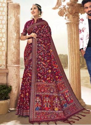 Banarasi Silk Multi Colour Classic Designer Saree