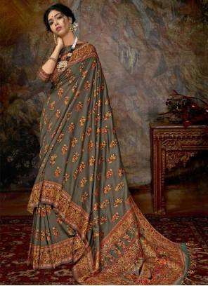 Banarasi Silk Multi Colour Designer Saree