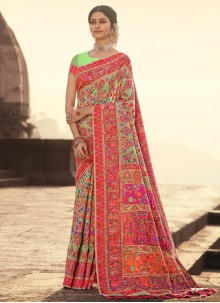 Banarasi Silk Multi Colour Traditional Designer Saree