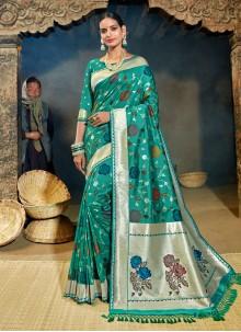 Banarasi Silk Party Designer Half N Half Saree