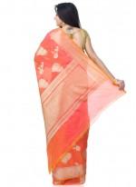 Banarasi Silk Pink Classic Designer Saree