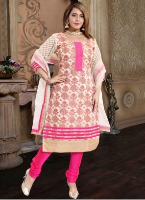 Banarasi Silk Rani Churidar Designer Suit