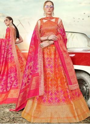 Banarasi Silk Reception A Line Lehenga Choli