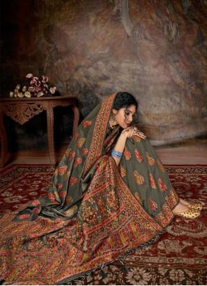 Banarasi Silk Reception Multi Colour Contemporary Saree