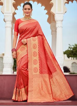 Banarasi Silk Reception Designer Traditional Saree