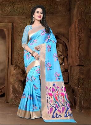 Banarasi Silk Reception Trendy Saree