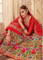 Banarasi Silk Red Weaving Lehenga Choli