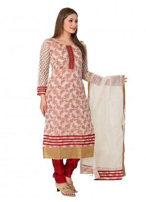Banarasi Silk Red Weaving Readymade Designer Salwar Suit