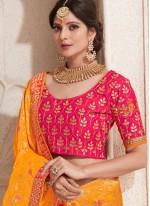 Banarasi Silk Traditional Designer Saree in Orange
