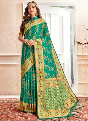 Banarasi Silk Traditional Saree in Green