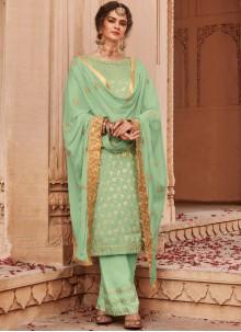 Banarasi Silk Trendy Palazzo Salwar Suit