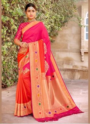 Banarasi Silk Weaving Classic Designer Saree in Pink