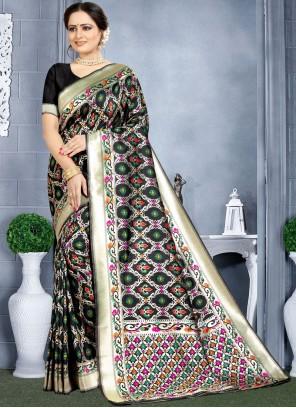 Banarasi Silk Weaving Classic Saree in Black