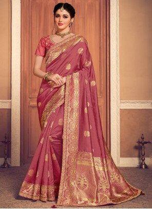 Banarasi Silk Weaving Designer Saree in Maroon