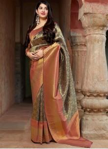 Banarasi Silk Weaving Multi Colour Traditional Saree