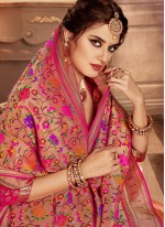 Banarasi Silk Weaving Pink Lehenga Choli