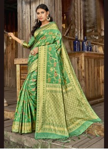Green Banarasi Silk Weaving Traditional Designer Saree