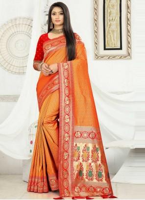 Banarasi Silk Weaving Traditional Designer Saree