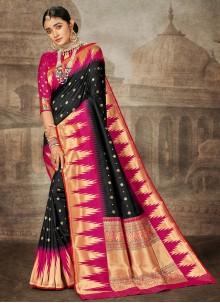 Banarasi Silk Weaving Traditional Saree in Black