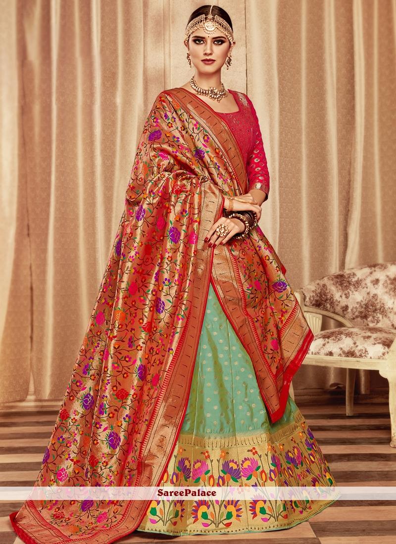 348de9976f Buy Banarasi Silk Wedding Lehenga Choli Online
