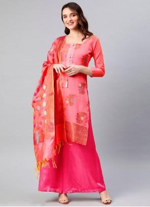 Banarasi Silk Woven Designer Palazzo Suit