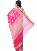 Banarasi Silk Zari Classic Designer Saree in Pink