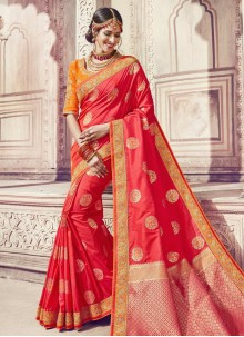 Banarasi Silk Zari Classic Saree in Red
