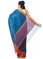 Banarasi Silk Zari Green Classic Designer Saree