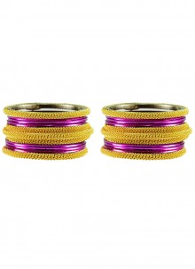 Bangles Stone Work in Pink