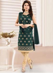 Banglori Silk Fancy Green Churidar Designer Suit